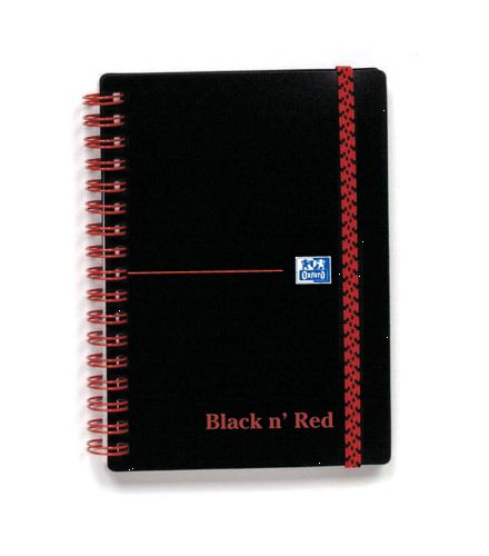 Black n Red Wiro Notebook A6 Polypropylene Cover [Pack of 5]