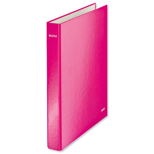 Leitz Wow Ringbinder A4+ Pink [Pack of 10]