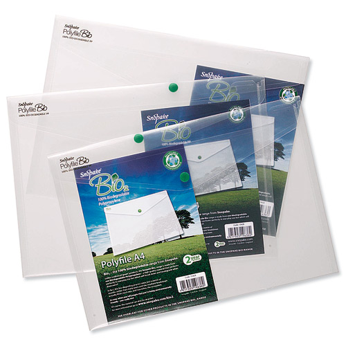 Snopake Recyclable Polyfile A4 Clear [Pack of 5]
