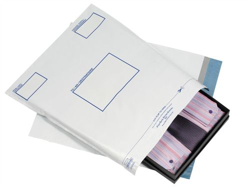 Postsafe Extra Strong Polythene Envelopes 600x700mm White [Pack of 100]
