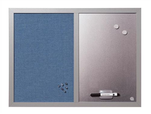 BiSilque Combination Notice and Magnetic Board W600XH450mm Bluebell