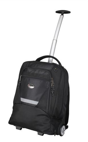 Lightpak Master Laptop Backpack with Trolley Nylon Capacity 15.4IN Black