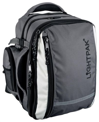 Lightpak Vantage Backpack with Detachable Laptop Bag Grey