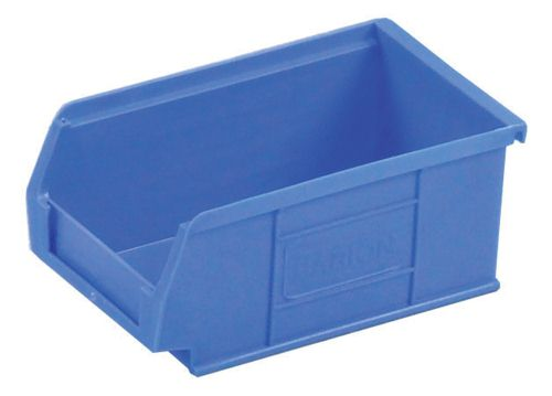 Small Parts Container 100x165x75mm Louvered Value 3 Blue