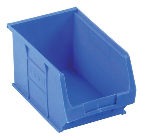 Small Parts Container 150x240x132mm Louvered Value 6 Blue