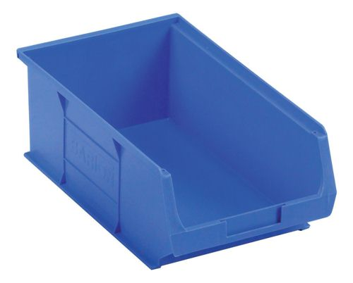 Small Parts Container 205x350x132mm Louvered Value 9 Blue
