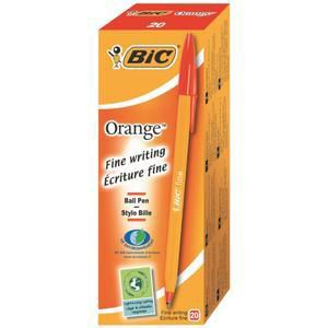 Bic Cristal Fine Red Ballpoint Pen [Pack of 20]