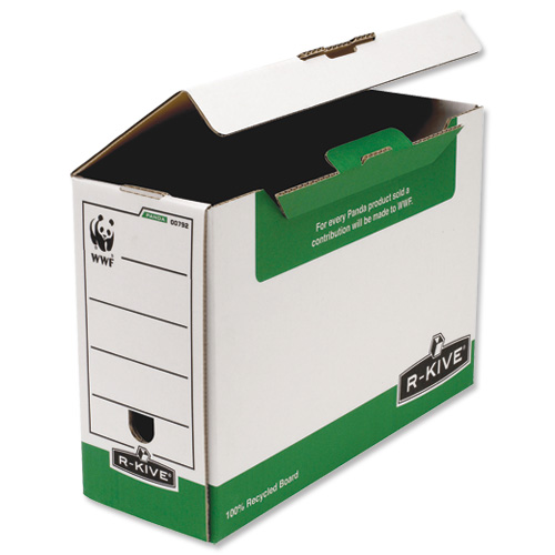 Fellowes Transfer Files 120mm Capacity Green and White [Pack of 10]