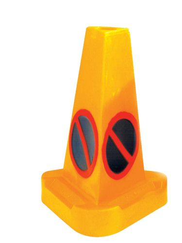 No Waiting Weighted Traffic Cone Yellow