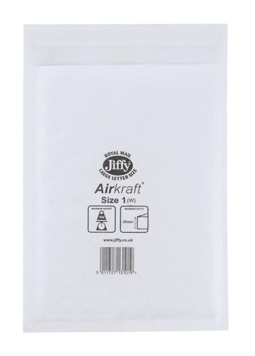 Jiffy Airkraft White 170x245mm [Pack of 100]