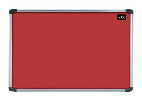 Nobo Euro Plus Noticeboard Felt with Fixings and Aluminium Frame W1226XH918mm Burgundy