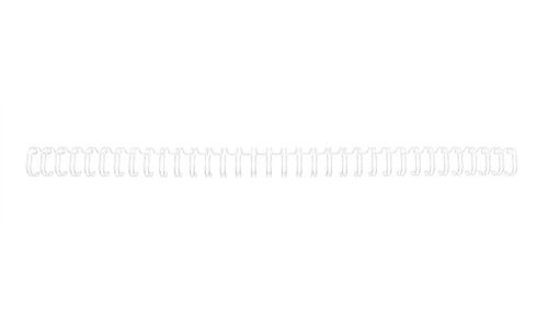 GBC 6mm 34 Ring Wires White [Pack of 100]
