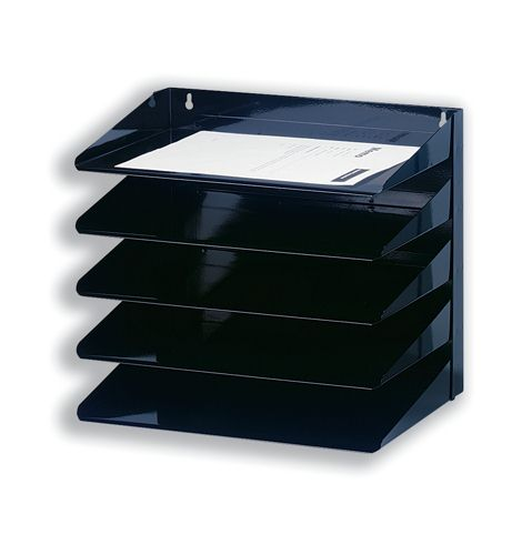 Avery Letter Rack 5-Tier Steel Black