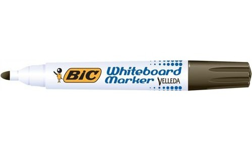 Bic Drywipe Marker Bullet Tip Black [Pack of 12]