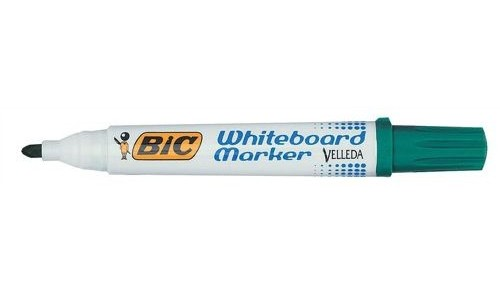 Bic Drywipe Marker Bullet Tip Green [Pack of 12]