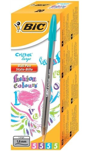 Bic Fashion Cristal Ball Point Pens [Pack of 20]