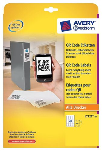Avery QR Code Label Square 45x45mm