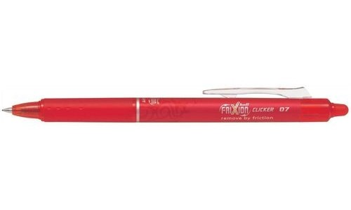 Pilot FriXion Clicker Rollerball Retractable Erasable 0.7mm Red [Pack of 12]