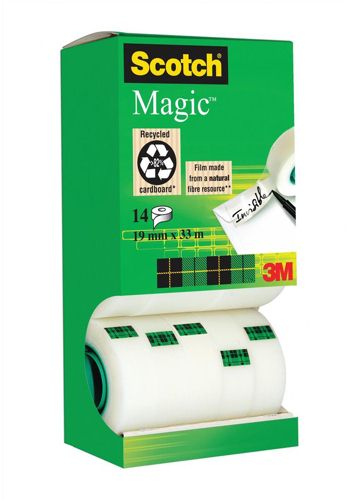 Scotch 19x33m Magic Tape Tower Pack with 2 Free Rolls [Pack of 12+2]