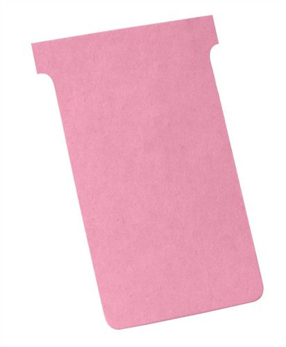 Nobo T-Card Size 4 Pink [Pack of 100]