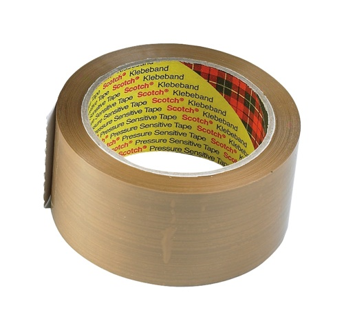 Scotch Polypropylene Packaging Tape 50mmx66m Buff [Pack of 6]