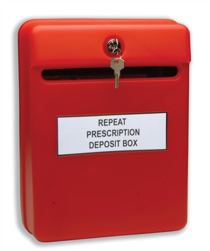 Helix Post Suggestion Box Red
