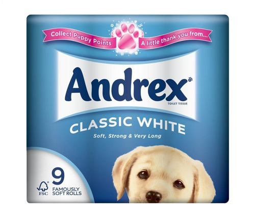 Andrex Toilet Rolls 2-Ply Classic [Pack of 9]