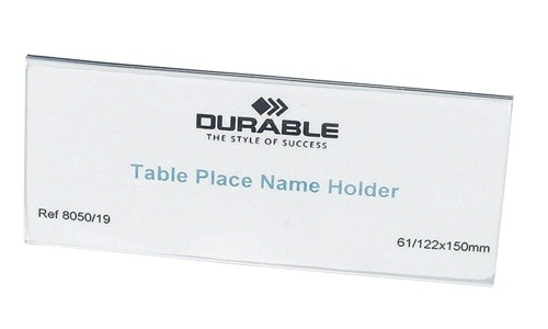 Durable Table Nameholder 61x150mm [Pack of 25]