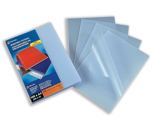 GBC PolyCovers ClearView Binding Covers Polypropylene 200 micron A4 Frosted [Pack of 100]