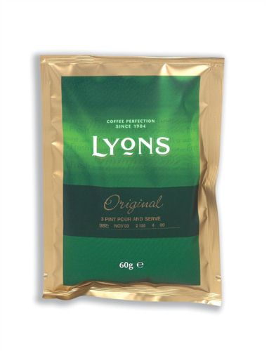Lyons Exclusive Coffee 3 Pint Sachet 60g [Pack of 50]