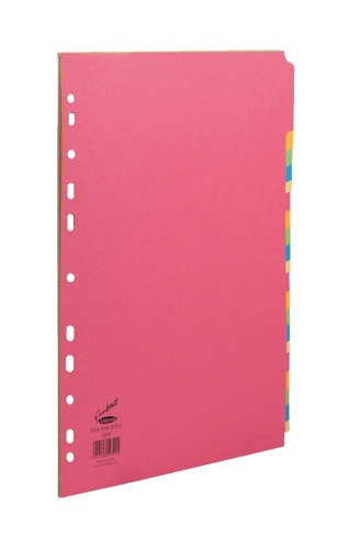 Concord Bright Subject Dividers Extra Wide 20 Part Elba A4 Extra Wide 5 Part Card Divider Multi-Coloured [Pack of 10]