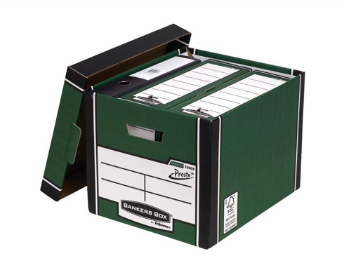Fellowes Premium Tall Storage Boxes Green [Pack of 10]