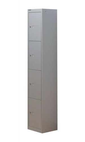 Bisley 4 Door Locker 305mm Goose Grey