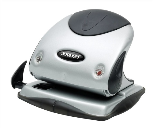 Rexel Premium Hole Punch P225 Silver and Black