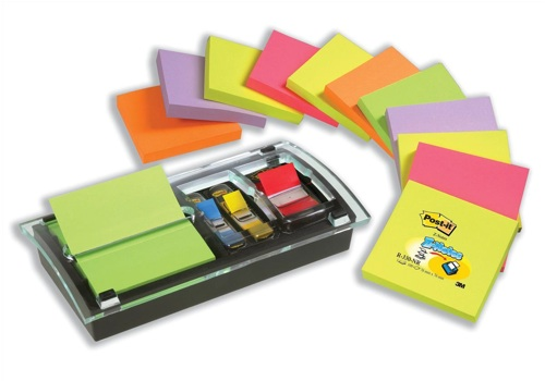 Post-It Designer Combi Dispenser [Pack of 12 Z-Notes, 1 Dispenser and 1 Index]