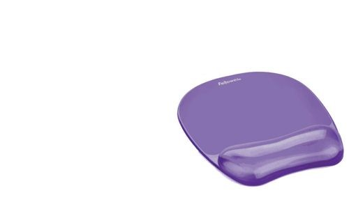 Fellowes Crystal Gel Mouse Pad Purple
