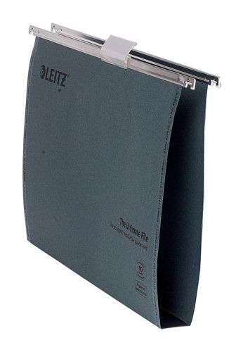 Leitz Ultimate Suspension File Recycled 30mm Foolscap Green [Pack 50]
