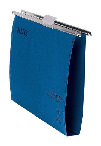 Leitz Ultimate Suspension File Recycled 30mm Foolscap Blue [Pack 50]