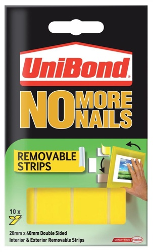 Unibond No More Nails Strip Removable Yellow
