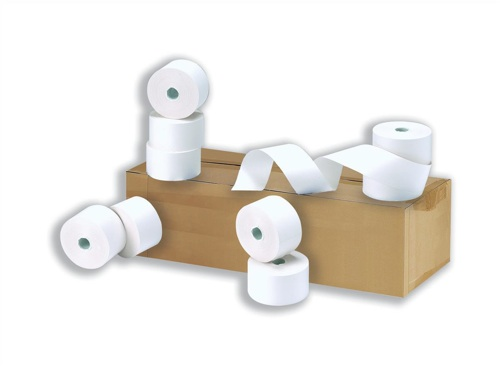 Roltech 2 Ply Carbonless Register Rolls 76x76mm White [Pack of 20]
