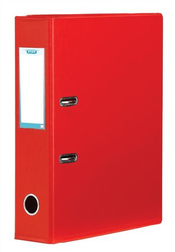 Elba Lever Arch File Plastic A4 70mm Red
