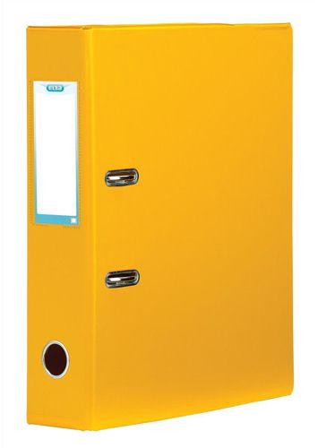 Elba Lever Arch File Plastic A4 70mm Yellow
