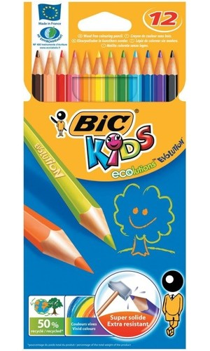 Bic Kids Colouring Pencil [Wallet of 12]
