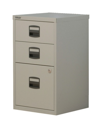 Bisley A4 Homefiler 3 Drawer Goose Grey