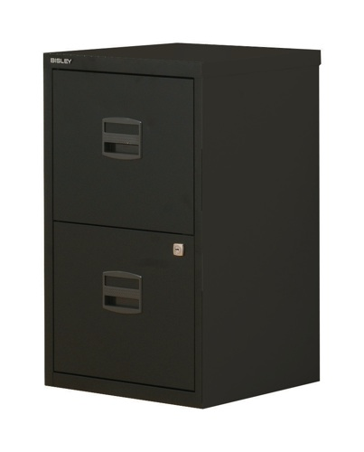 Bisley A4 Homefiler 3 Drawer Black