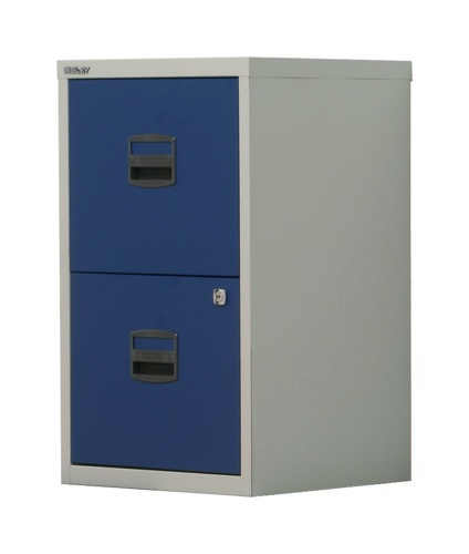 Bisley A4 Homefiler 2 Drawer Grey and Blue