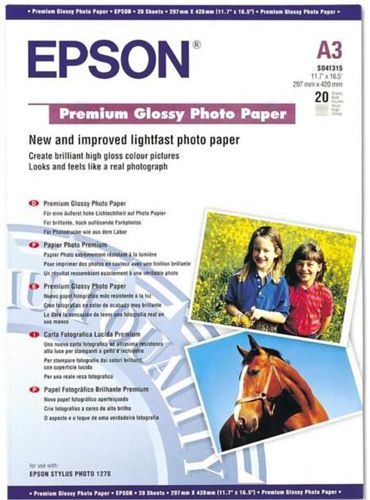 Epson S041315 A3 Premium Photo Glossy Paper [Pack of 20]
