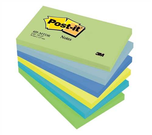 Post-It Dreamy Colour Notes 76x127mm [Pack of 6]