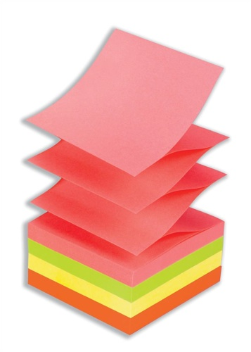 Post-It Z-Note Refills Neon Rainbow