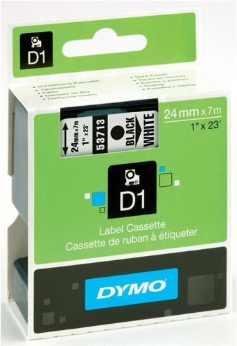Dymo D1 Labels 24mm Black on White